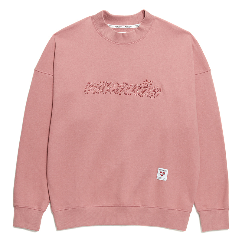 NOMANTIC LETTERING STITCH SWEAT-SHIRTS CORAL PINK
