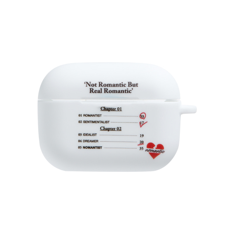 NOMANTIC CHAPTER LIST AIRPODS PRO CASE WHITE
