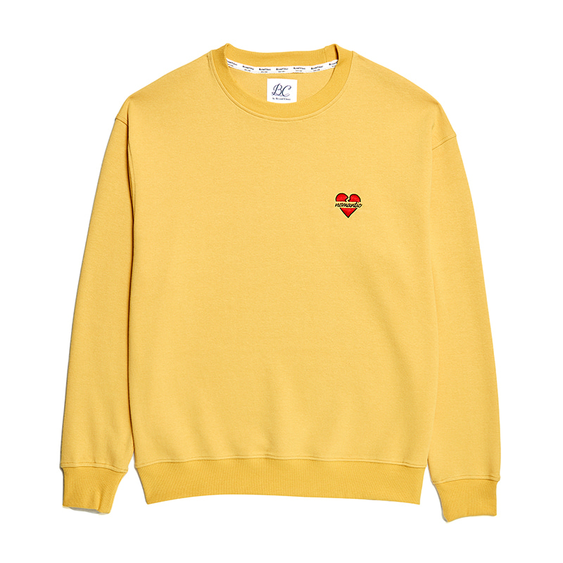 NOMANTIC BASIC LOGO SWEAT-SHIRTS YELLOW