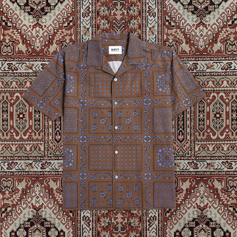 [20ARCHIVE]NEW ARCHIVE PAISLEY SHIRTS BROWN