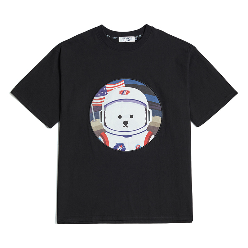 [RE-EDITION]APOLLO DOG PATCH 1/2 T-SHIRTS 2020VER BLACK