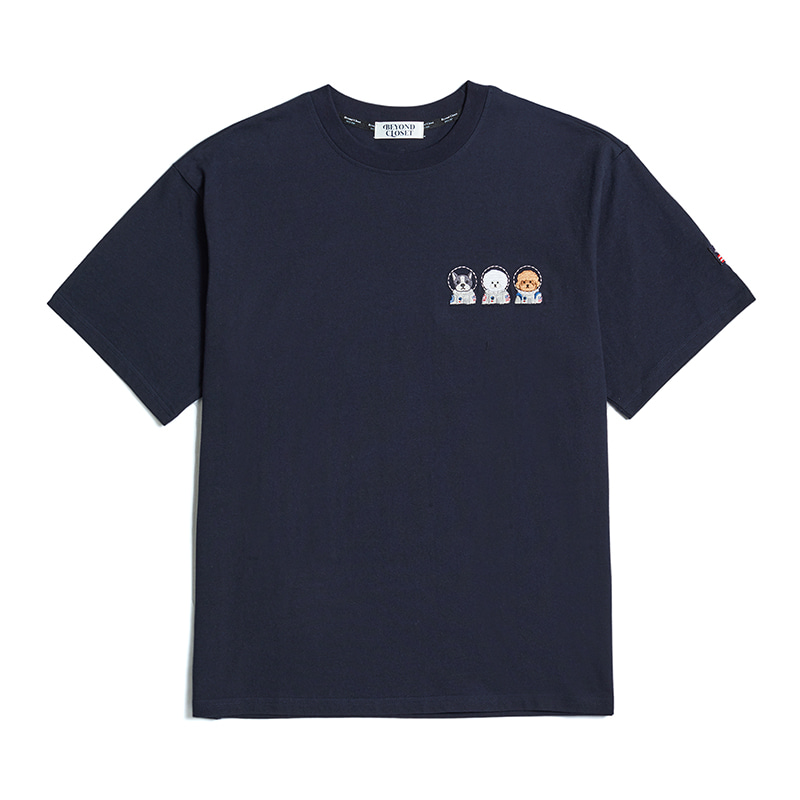APOLLO CREW LOGO 1/2 T-SHIRTS NAVY