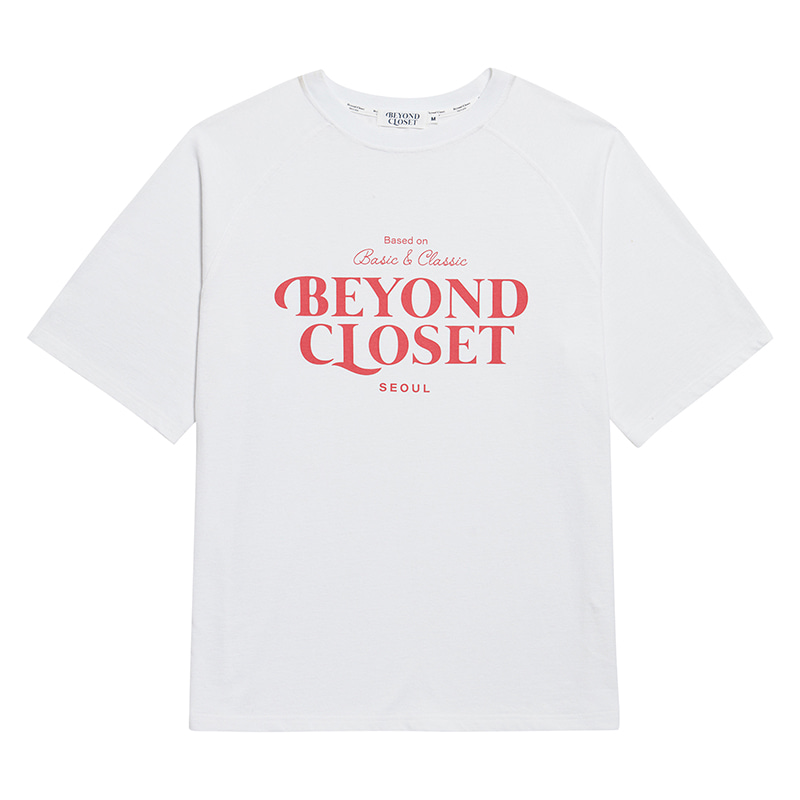 NEW LOGO WASHED COTTON 1/2 T-SHIRTS WHITE