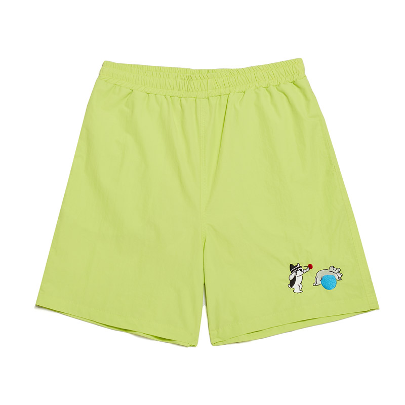 [Ball Collection]BC FITNESS CENTER 1/2 GYM SHORTS LIME
