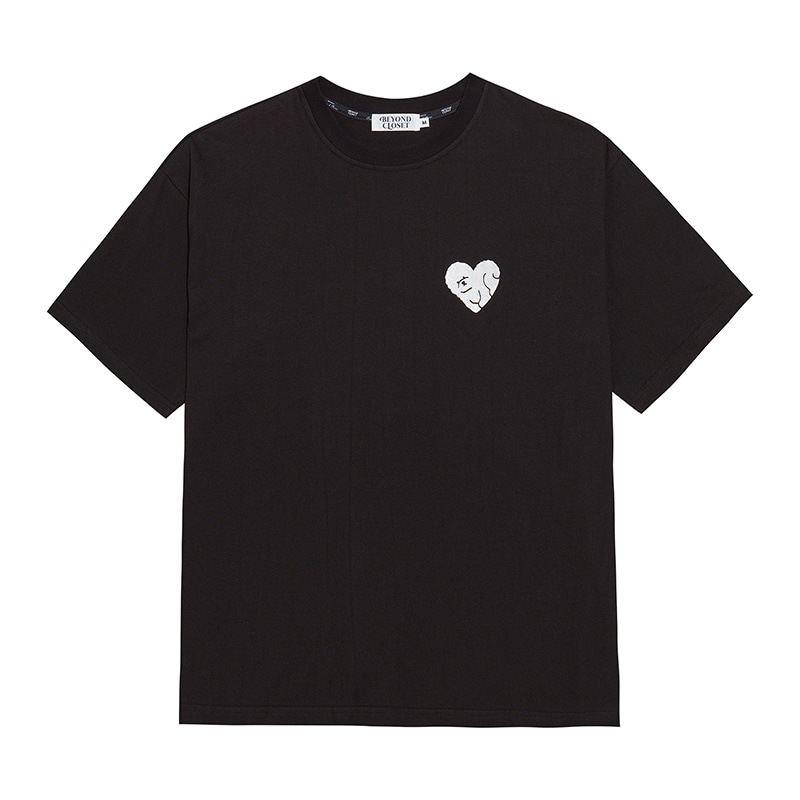ILP HEART DOG 1/2 T SHIRTS BLACK
