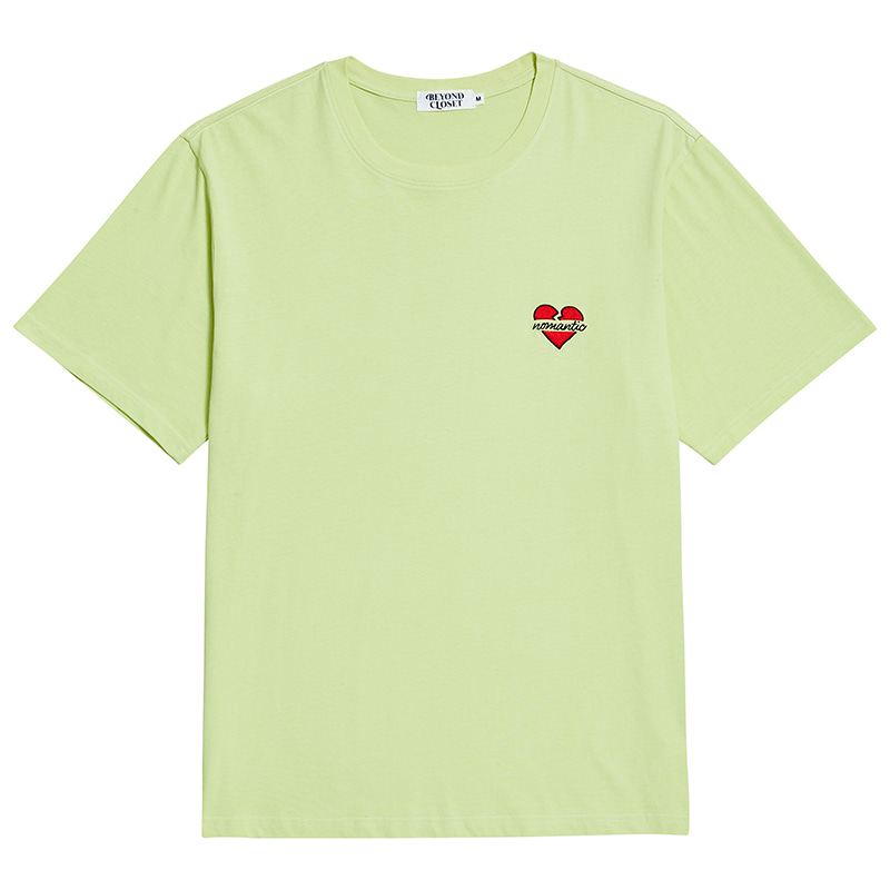 NOMANTIC BASIC LOGO 1/2 T-SHIRTS LIME