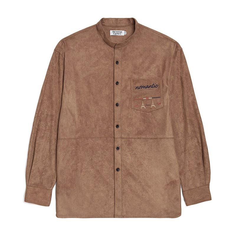 NOMANTIC EIFFEL SUEDE SHIRTS BROWN