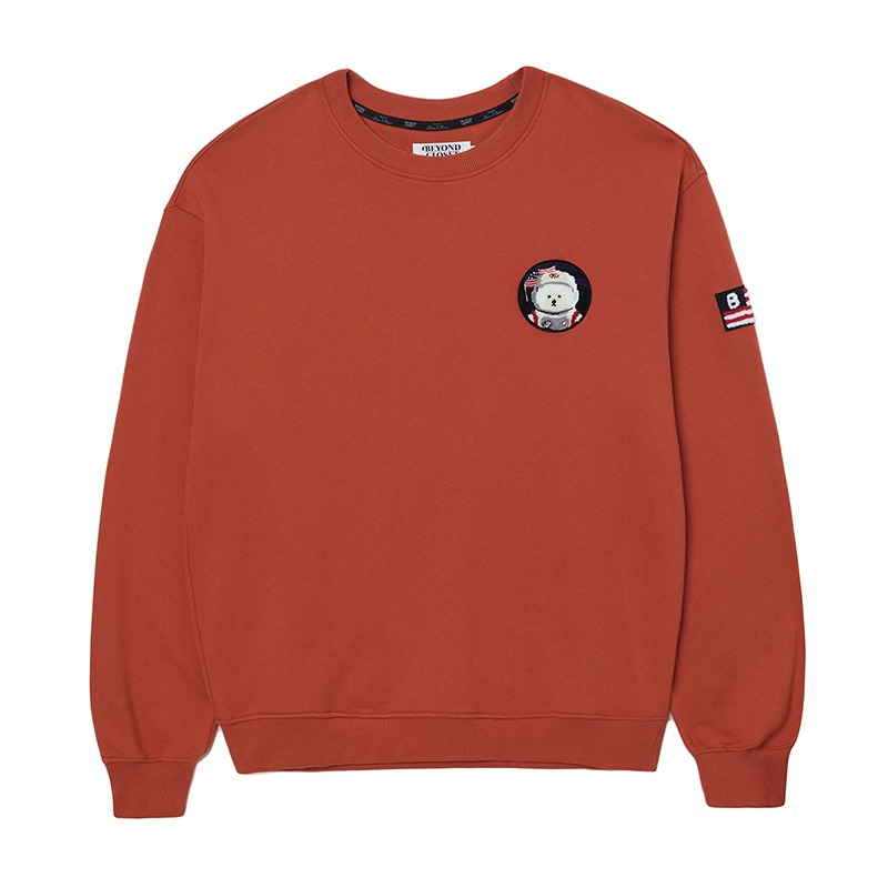 APOLLO COLLECTION CLASSIC WAPPEN SWEAT-SHIRTS CORAL