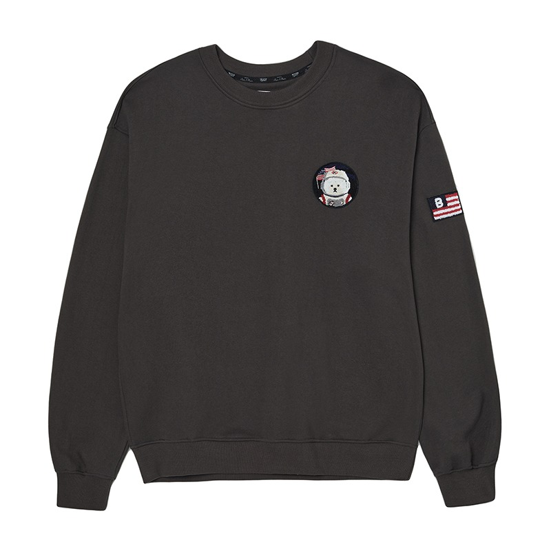 APOLLO COLLECTION CLASSIC WAPPEN SWEAT-SHIRTS GRAY