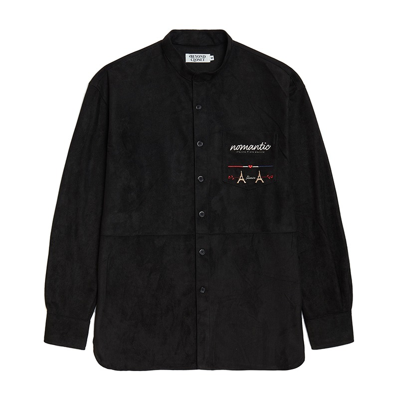 NOMANTIC EIFFEL SUEDE SHIRTS BLACK