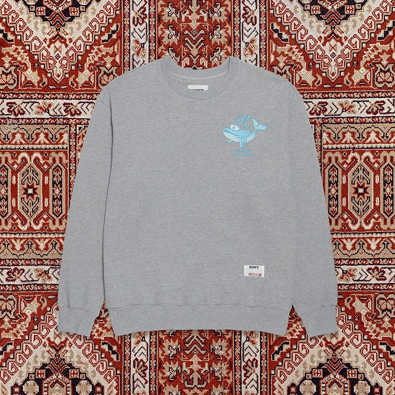 [10ARCHIVE]WALES LOGO SWEAT SHIRTS GRAY