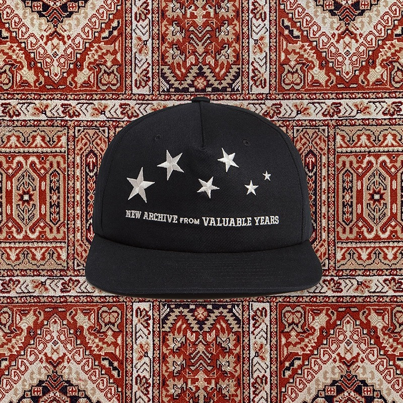 [20ARCHIVE]STAR LOGO HARD CHINO CAP BLACK