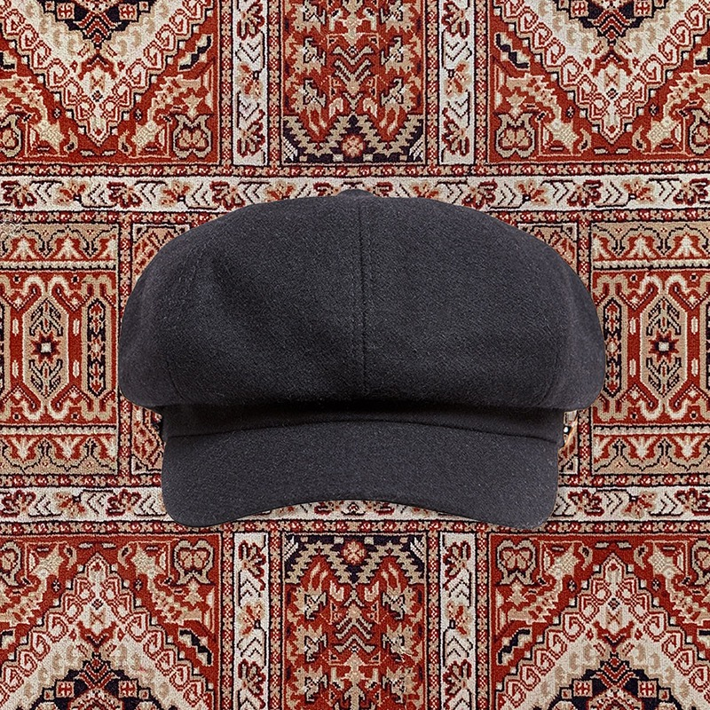 [20ARCHIVE]HERITAGE WOOL CAP BLACK