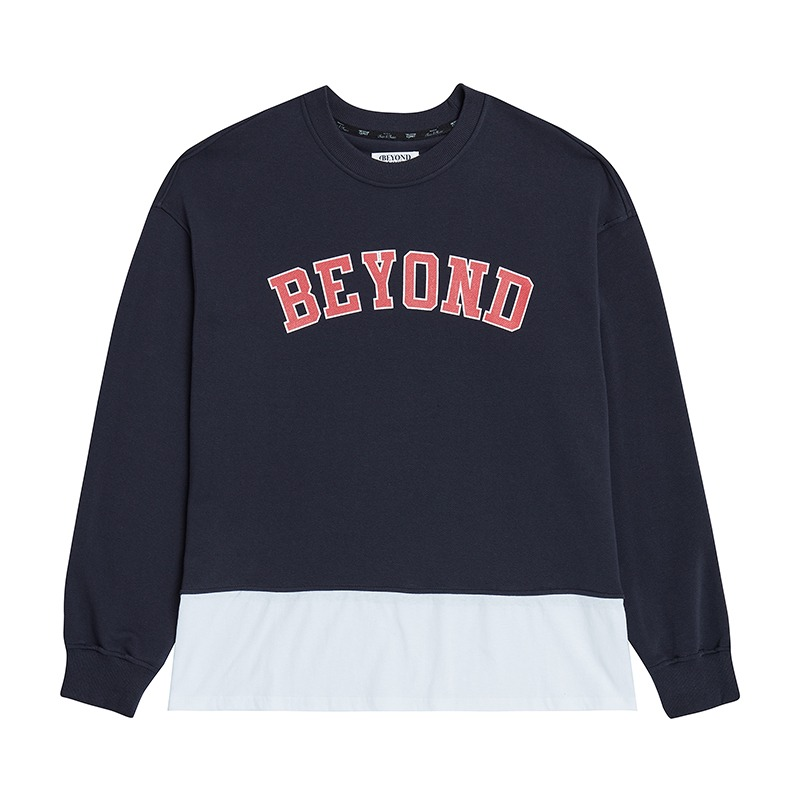 80'S IVY LAYERING SWEAT SHIRTS NAVY
