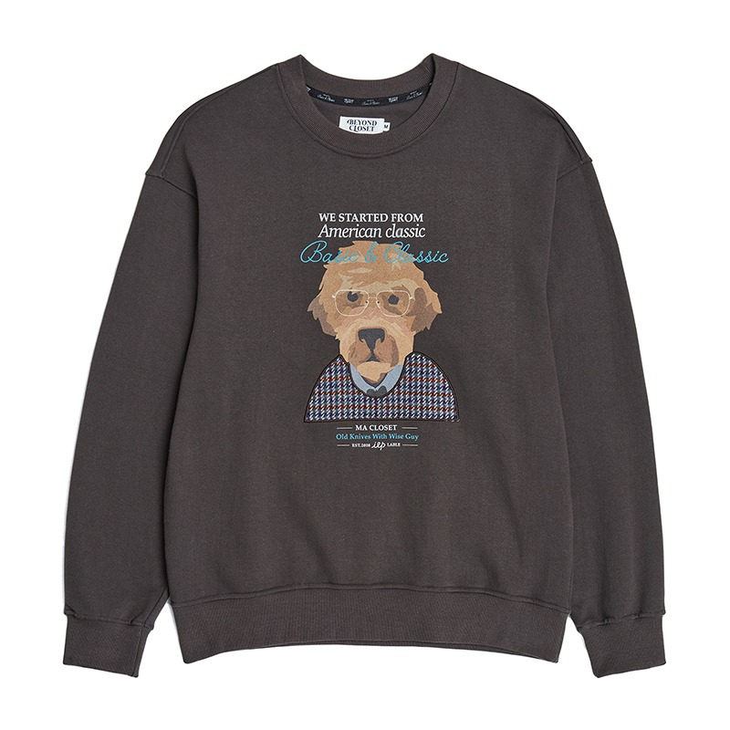 OLD KARL OPTICAL SWEAT SHIRTS GRAY