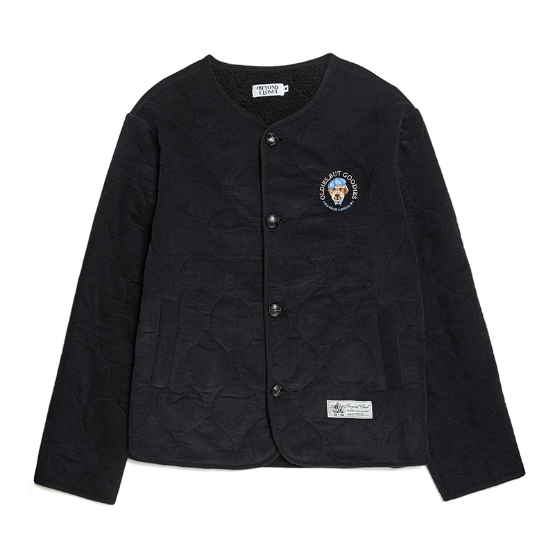 [S 12/3 출고]BOO COLLABORATION CODUROY FUR CARDIGAN BLACK