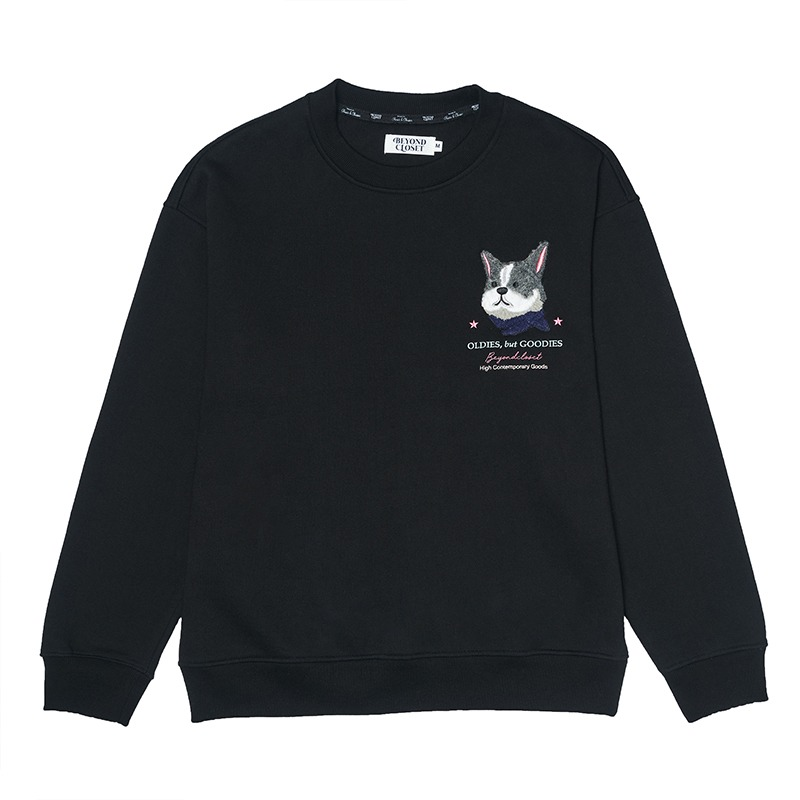 [기모]ILP HQ WAPPEN SWEAT-SHIRTS 2020WINTER BLACK