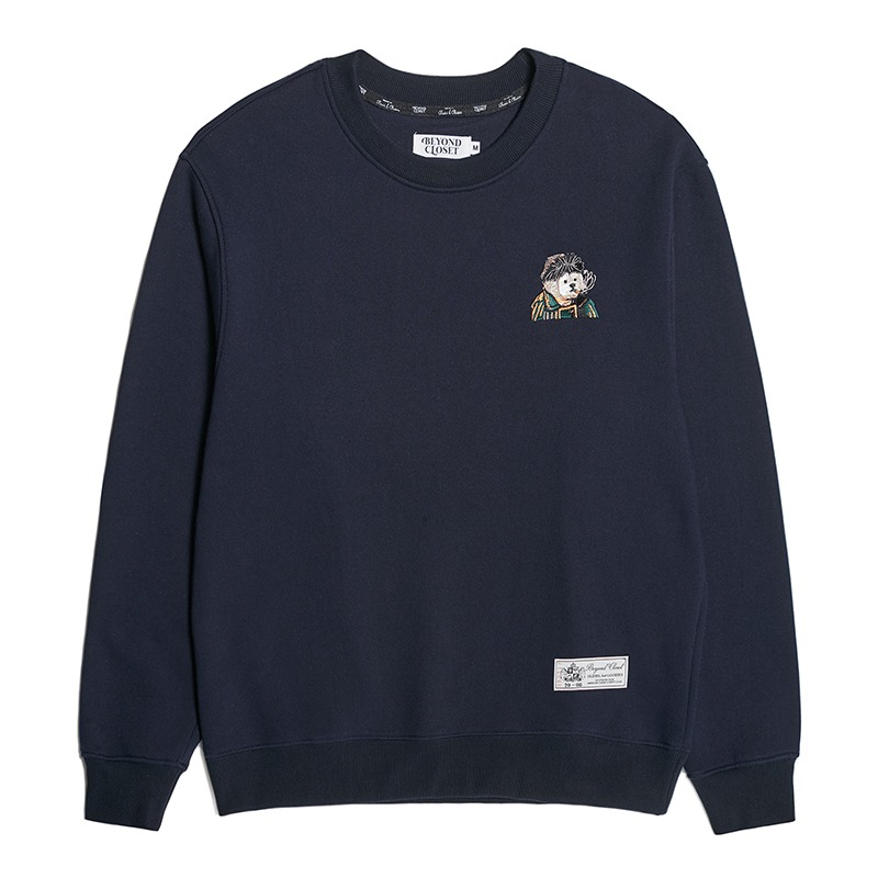[M 12/1 출고][기모]MASTERPIECE DOG LOGO SWEAT SHIRTS NAVY