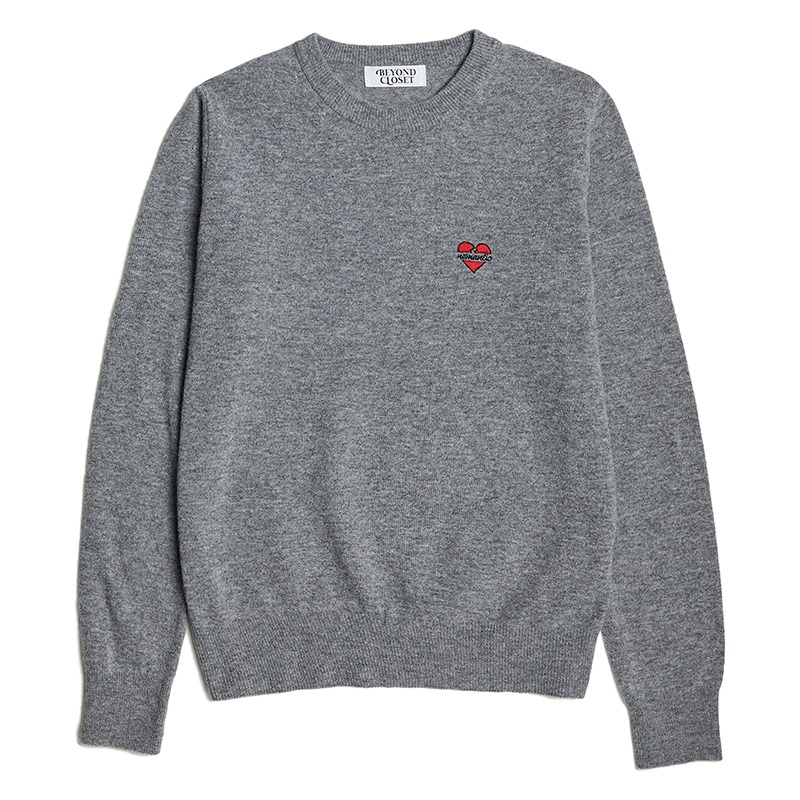 [4/6 출고] [WOMEN'S EDITION] NOMANTIC CASHMERE BASIC LOGO KNIT GRAY