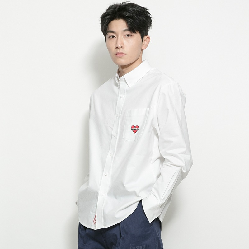 NOMANTIC CLASSIC OXFORD SHIRTS WHITE