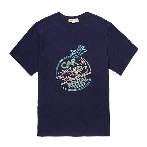 CAR-NEON DOG 1/2 TS [NEON SIGN LINE] NAVY