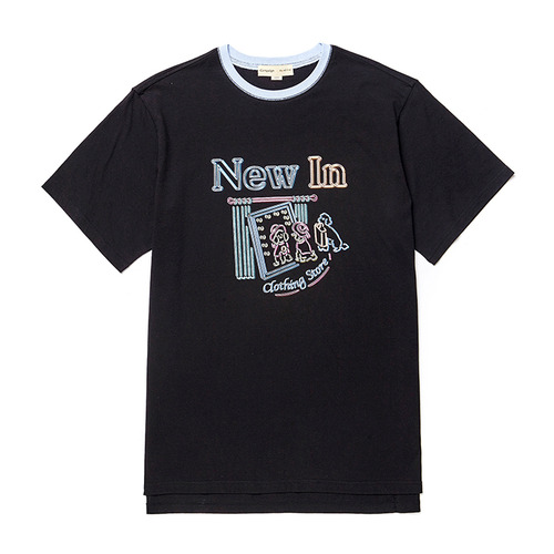 NEW STORE DOG 1/2 TS [NEON SIGN LINE] BLACK