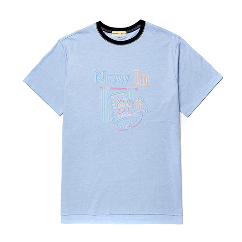 NEW STORE DOG 1/2 TS [NEON SIGN LINE] SKY BLUE