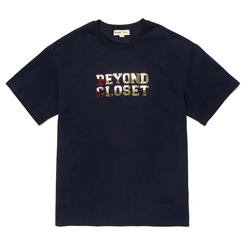 METAL BASIC LOGO 1/2 TS NAVY