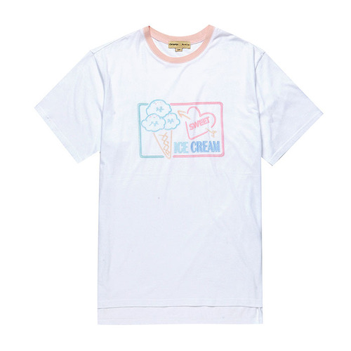 ICE CREAM DOG 1/2 TS [NEON SIGN LINE] WHITE