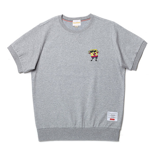 B.C X S.B SUNGLASS 1/2 SWEAT SHIRT GRAY