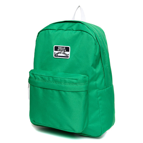 NAME TAG LOGO BASIC BACKPACK GREEN