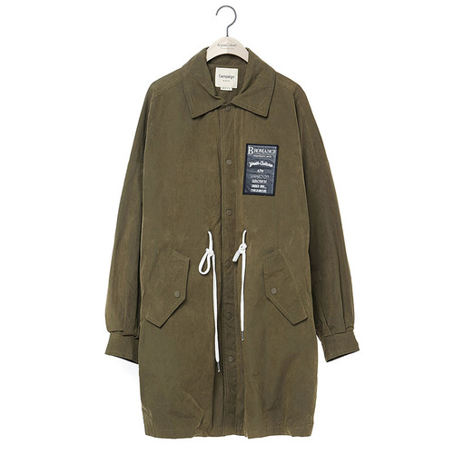 BROMANCE LEATHER LOGO LONG JP KHAKI