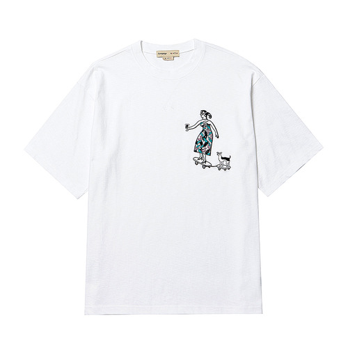 [COLLECTION LINE] DRESS BOARD WOMAN 1/2 T-SHIRT WHITE