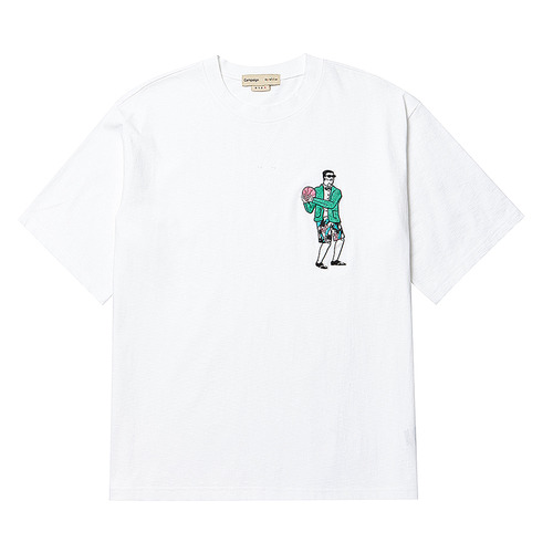 [COLLECTION LINE] SUIT BALL MAN 1/2 T-SHIRT WHITE