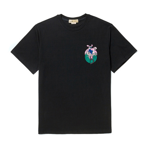 [COLLECTION LINE] FLAMINGO DOG 1/2 T-SHIRT BLACK