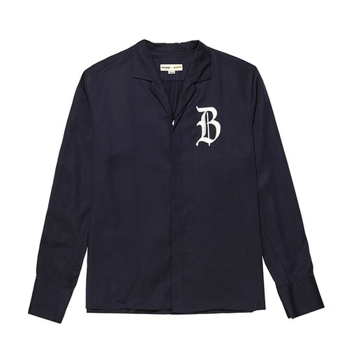 [COLETTE EDITION] CLASSIC LOGO OPEN COLLAR SHIRTS NAVY