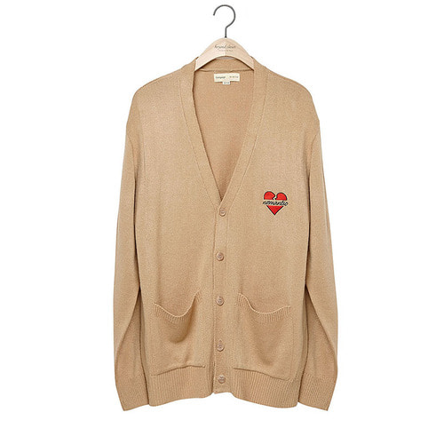 NOMANTIC LOGO KNIT CARDIGAN 2018VER BEIGE
