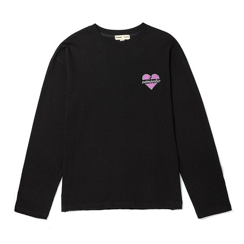 BASIC NOMANTIC LOGO LONG SLEEVE T-SHIRTS BLACK