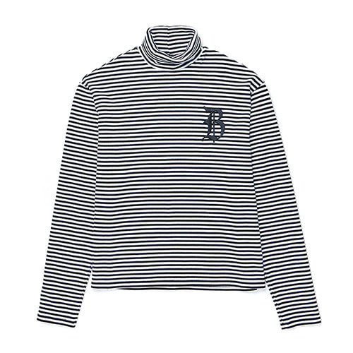 [COLLECTION LINE]LOGO STRIPE TURTLE-NECK T-SHIRTS IVORY