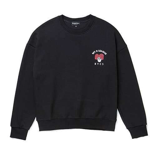 [COLLECTION LINE][기모]RED NERD BOY SWEAT-SHIRTS BLACK