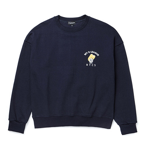 [COLLECTION LINE][기모]YELLOW NERD BOY SWEAT-SHIRTS NAVY