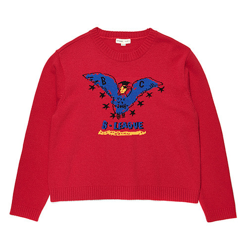[COLLECTION LINE]B-LEAGUE EAGLE KNIT RED