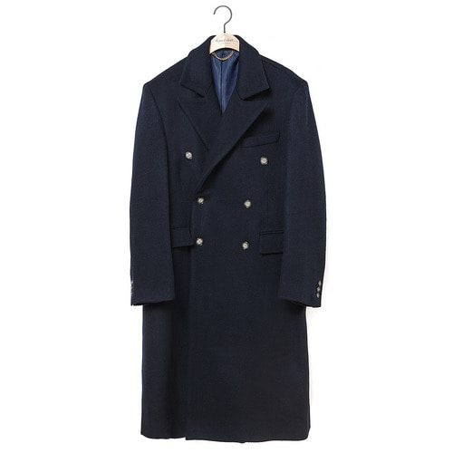 [COLLECTION LINE]MY B CLASSIC DOUBLE LONG COAT NAVY