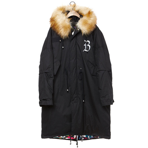 [COLLECTION LINE]MY B MILITARY LONG PARKA BLACK