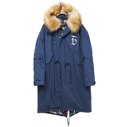 [COLLECTION LINE]MY B MILITARY LONG PARKA INDIGO BLUE