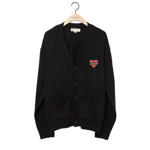 NOMANTIC LOGO KNIT CARDIGAN 2018VER BLACK