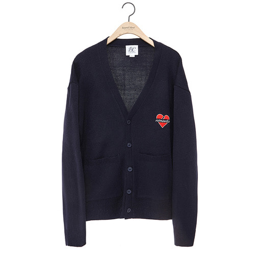 NOMANTIC LOGO KNIT CARDIGAN 2018VER NAVY