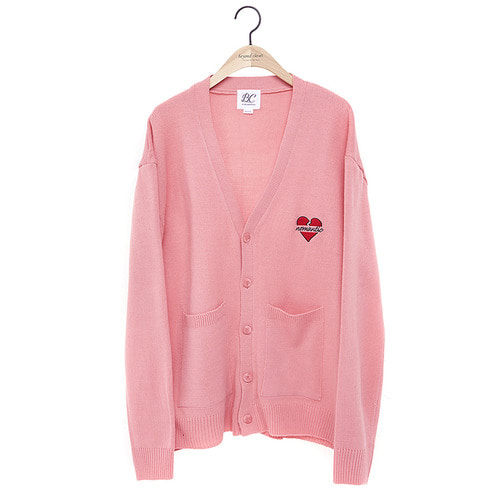 NOMANTIC LOGO KNIT CARDIGAN 2018VER PINK