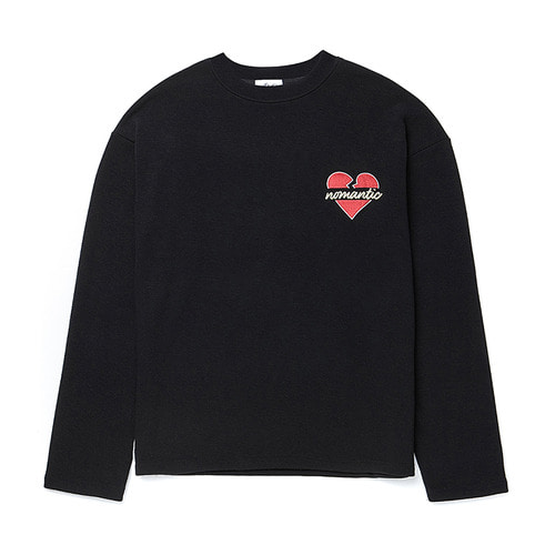 [기모] BASIC NOMANTIC LOGO LONG SLEEVE T-SHIRTS BLACK