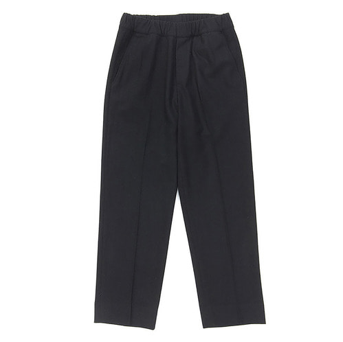 NOMANTIC WOOL CRAPE PANTS BLACK